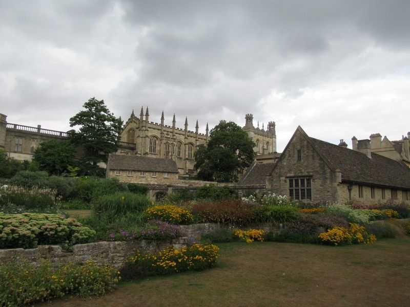 Christ Church beyond the Memorial Garden image. Click for full size.