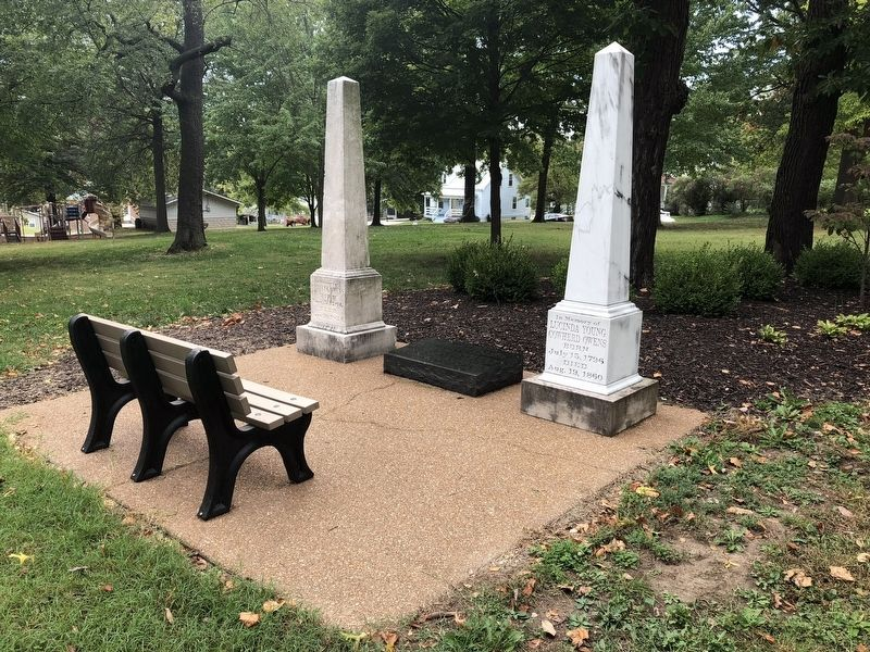 Monuments for William and Lucinda Owens in addition to the marker image. Click for full size.