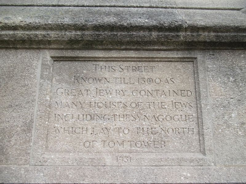 Great Jewry Marker image. Click for full size.