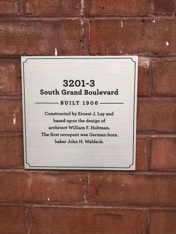 3201-3 South Grand Boulevard Marker image. Click for full size.