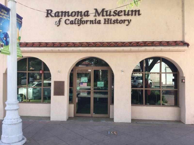 Ramona Museum and Marker image. Click for full size.