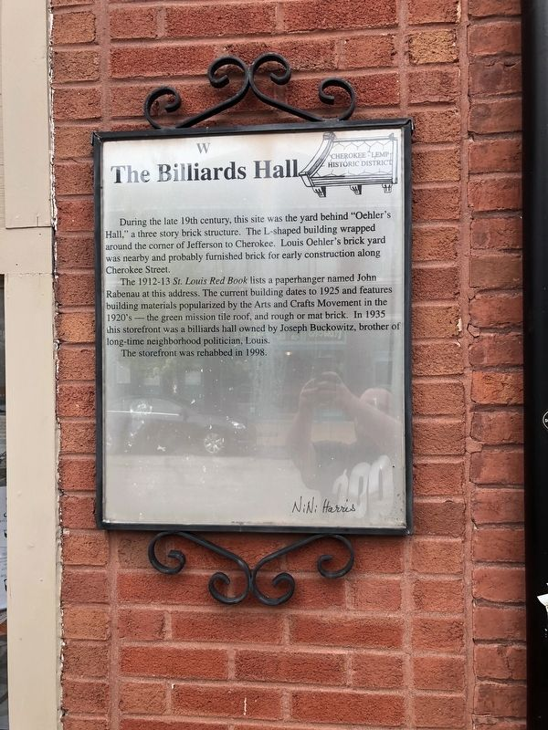 The Billiards Hall Marker image. Click for full size.