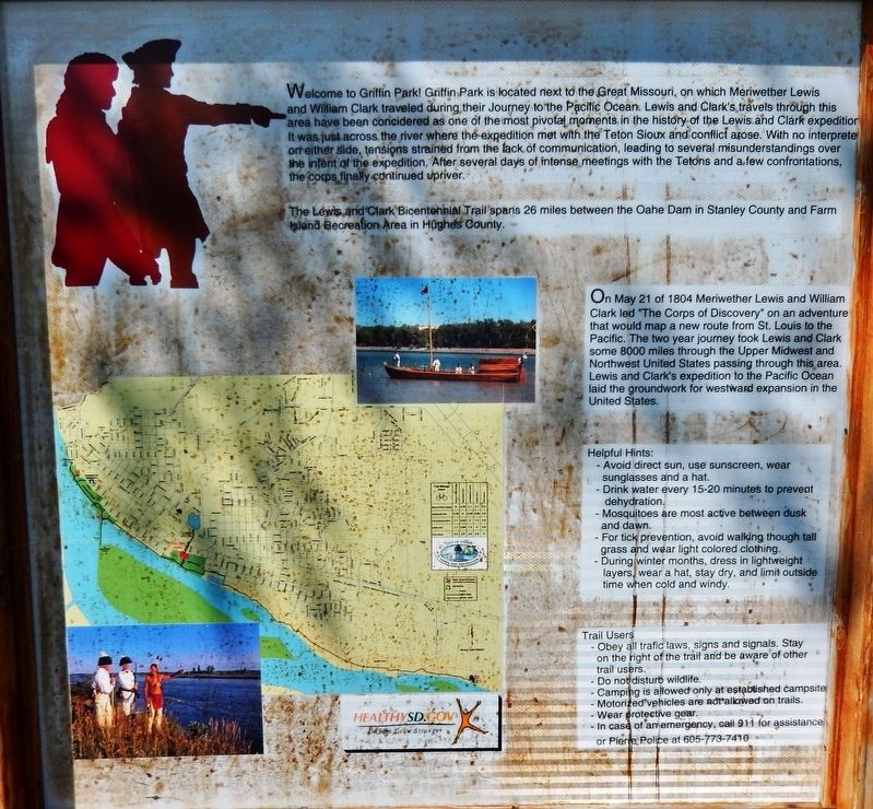 Lewis & Clark Trail Marker image. Click for full size.