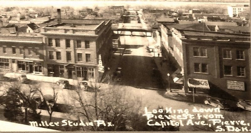 Marker detail: Photo looking south down Pierre Street from Capitol Avenue image. Click for full size.
