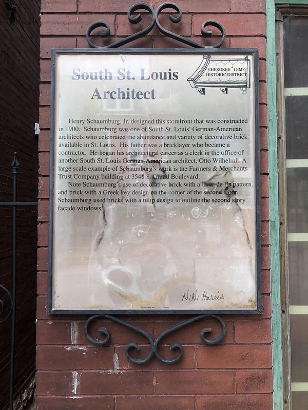 South St. Louis Architect Marker image. Click for full size.