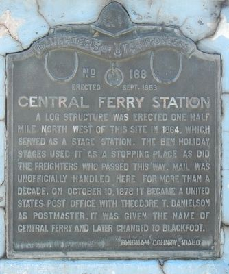 Central Ferry Station Marker image. Click for full size.