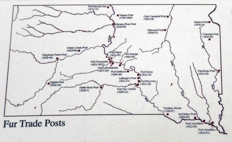 Marker detail: Fur Trade Posts on the Upper Missouri River image. Click for full size.