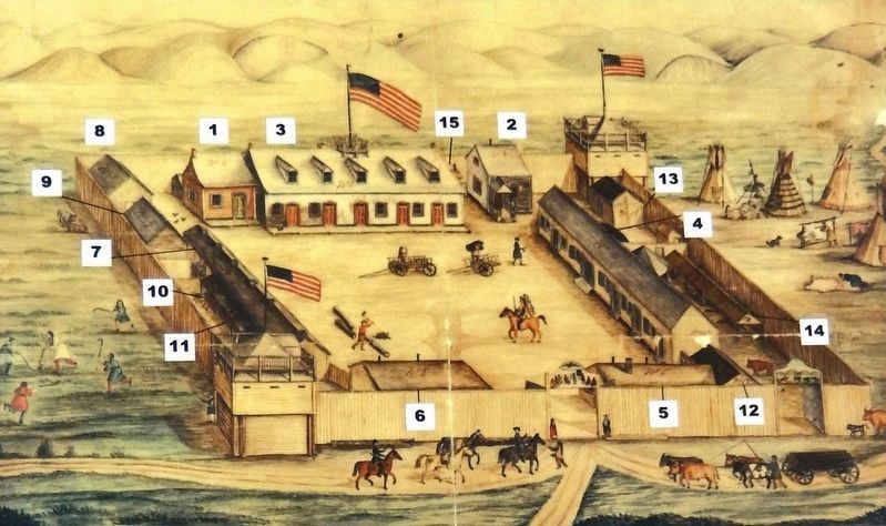 Marker detail: Fort Pierre Chouteau image. Click for full size.