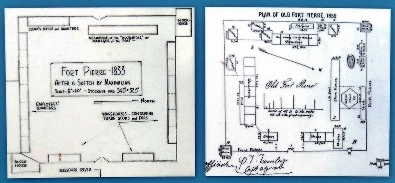 Marker detail: Fort Pierre Chouteau layout image. Click for full size.