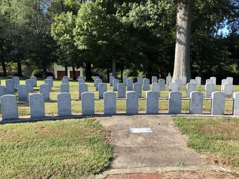 The Camp Calhoon Cemetery was errected to honor the memory of the Union dead at Camp Calhoon. image. Click for full size.