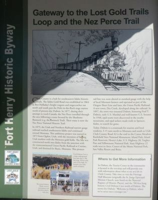 Gateway to the Lost Gold Trails Loop and the Nez Perce Trail panel image, Touch for more information