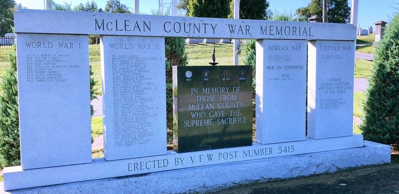 McLean County War Memorial image. Click for full size.