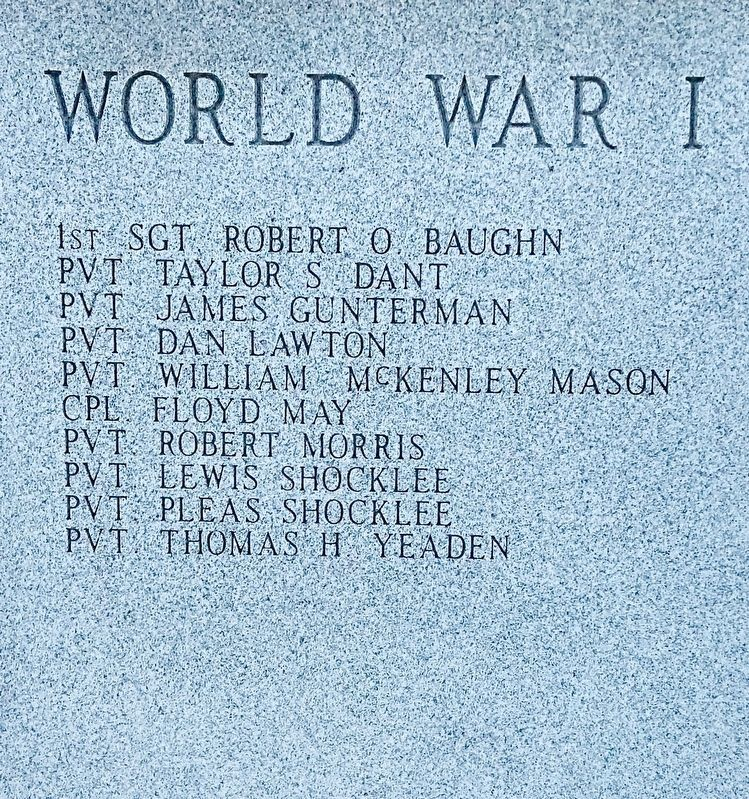 List of World War I dead. image. Click for full size.
