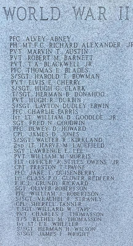 List of World War II dead. image. Click for full size.