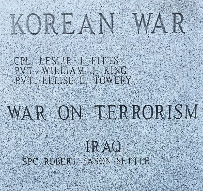 Korean War and Iraq War dead. image. Click for full size.