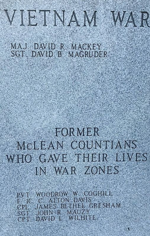 Vietnam War and former McLean Countians who gave their lives in war zones. image. Click for full size.