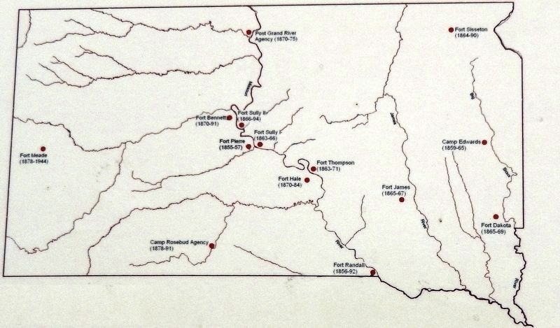 Marker detail: Major Dakota Army Posts image. Click for full size.