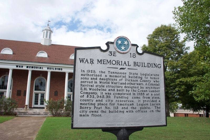 War Memorial Building Marker image. Click for full size.