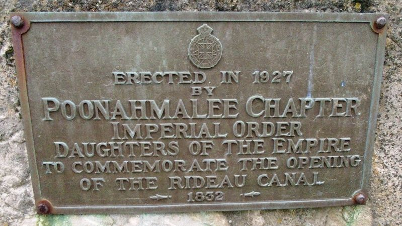 To Commemorate the Opening of the Rideau Canal 1832 Marker image. Click for full size.