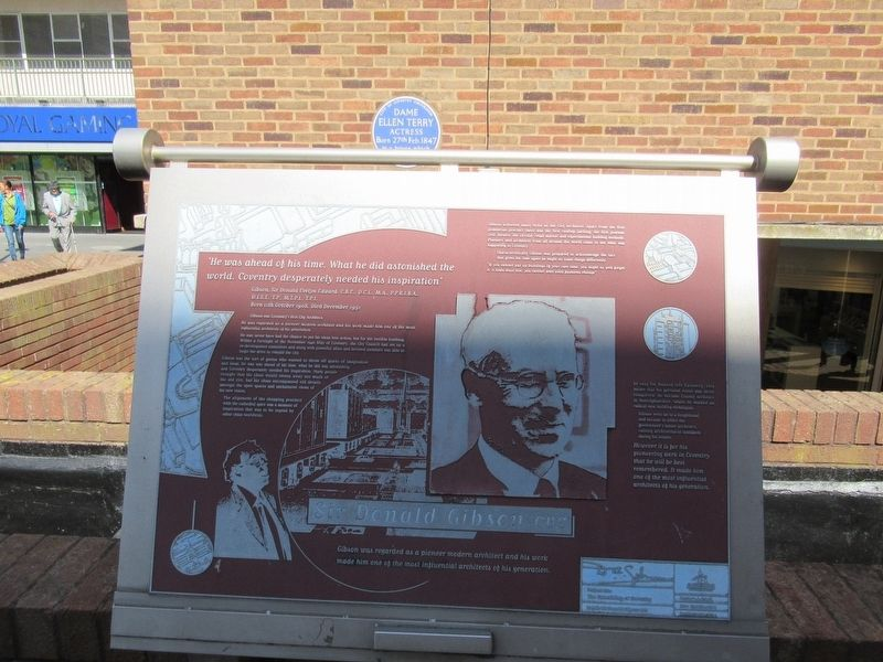 Donald Gibson CBE Marker image. Click for full size.