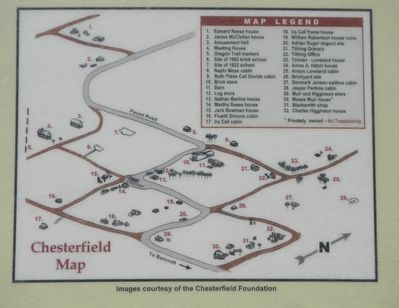 Historic Chesterfield Marker, detail image. Click for full size.