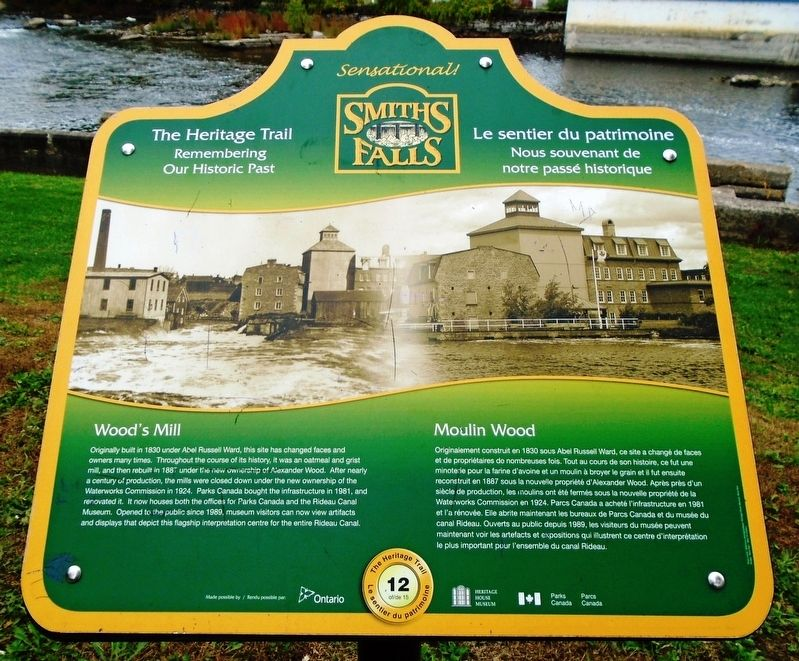 Wood's Mill / Moulin Wood Marker image. Click for full size.