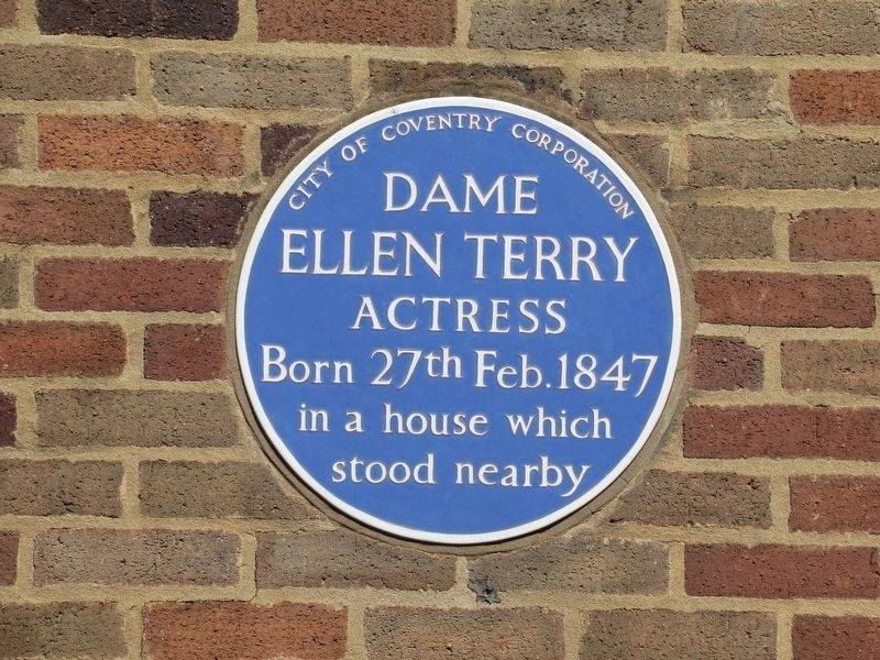 Dame Ellen Terry Marker image. Click for full size.