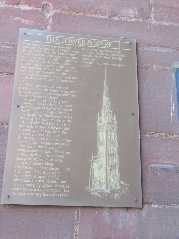 The Tower & Spire Marker image. Click for full size.