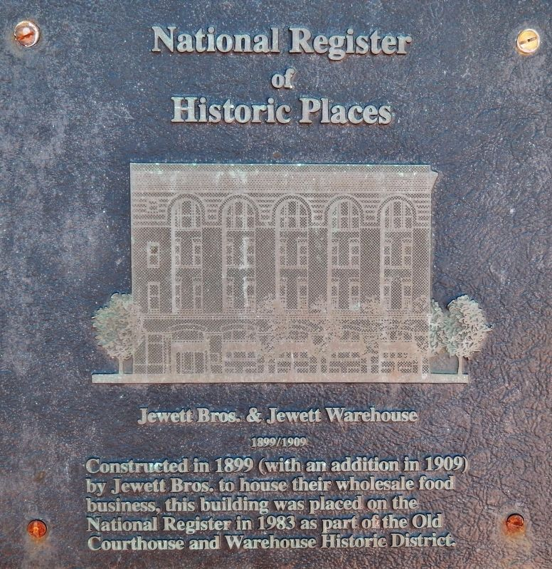 Jewett Bros. & Jewett Warehouse Marker image. Click for full size.