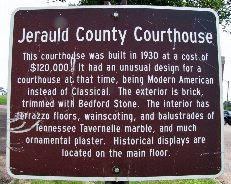 Jerauld County Courthouse Marker image. Click for full size.