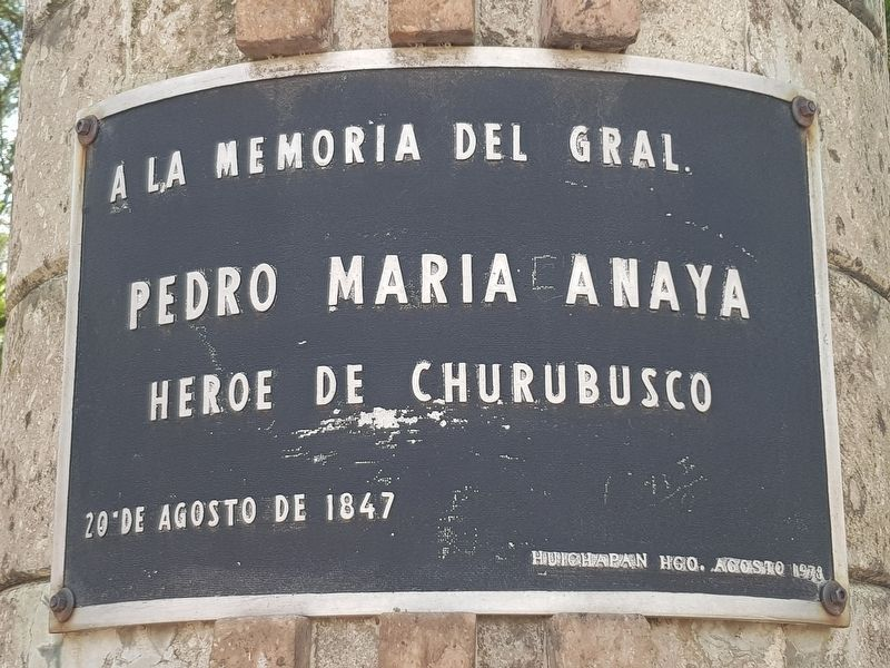General Pedro María Anaya Marker image. Click for full size.