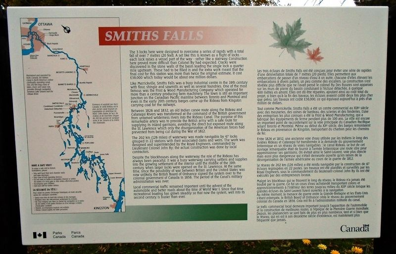 Smiths Falls Marker image. Click for full size.