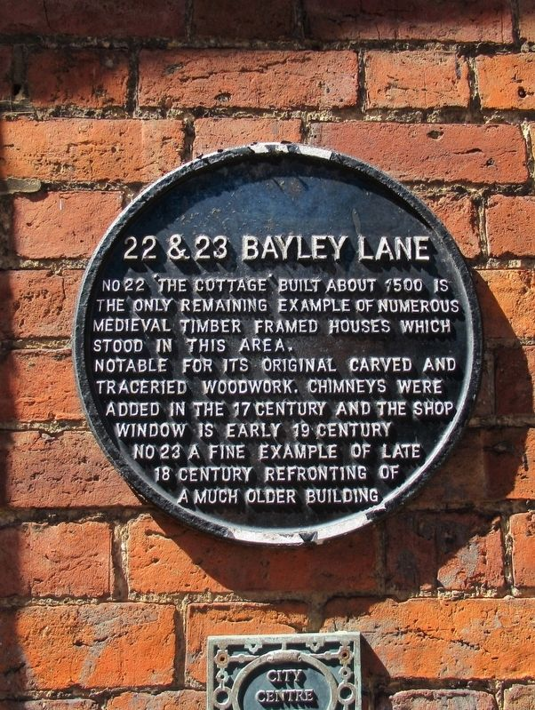22 & 23 Bayley Lane Marker image. Click for full size.