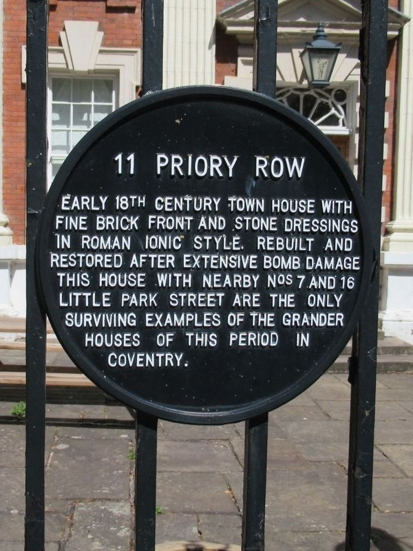 11 Priory Row Marker image. Click for full size.