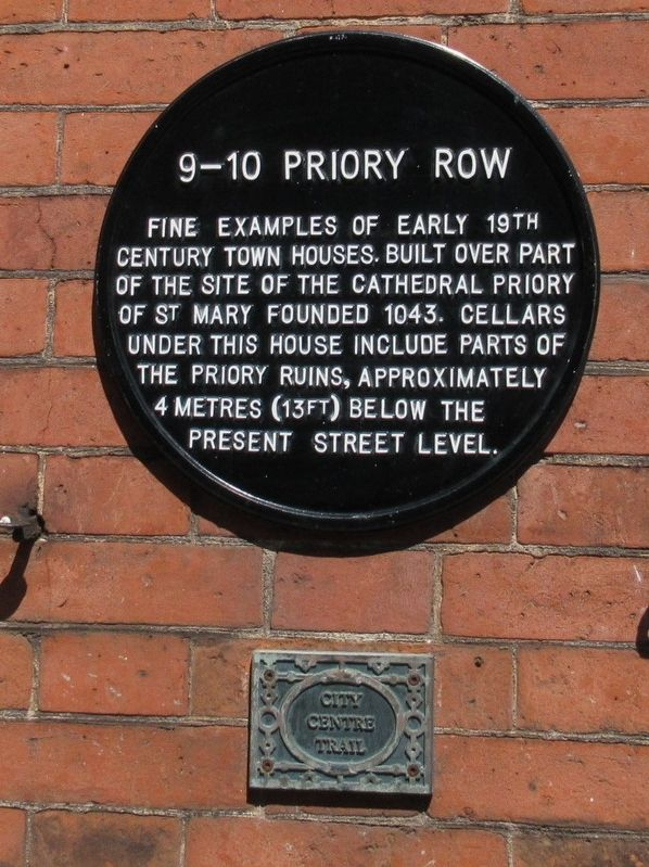 9 – 10 Priory Row Marker image. Click for full size.