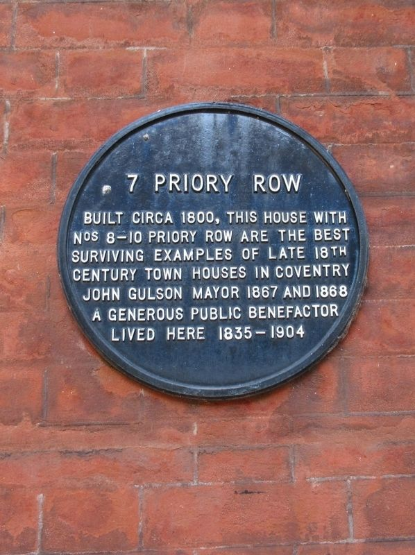 7 Priory Row Marker image. Click for full size.