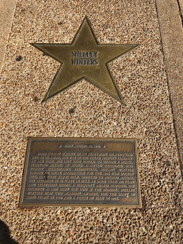 Shelley Winters Marker image. Click for full size.