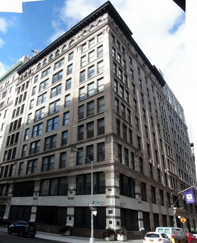 The Triangle Shirtwaist Factory building image. Click for full size.