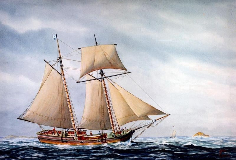 Continental Navy Schooner <i>Hannah</i> image. Click for full size.
