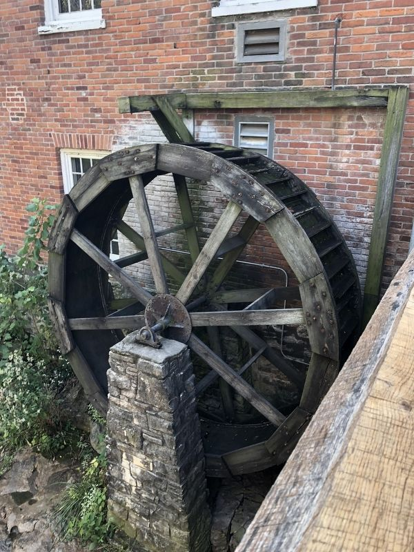 Mill wheel on the property image. Click for full size.