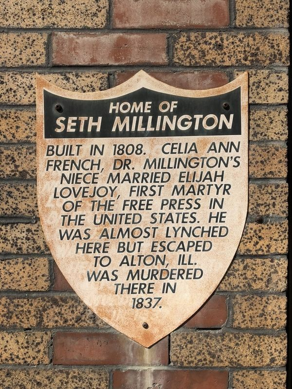 Home of Seth Millington Marker image. Click for full size.
