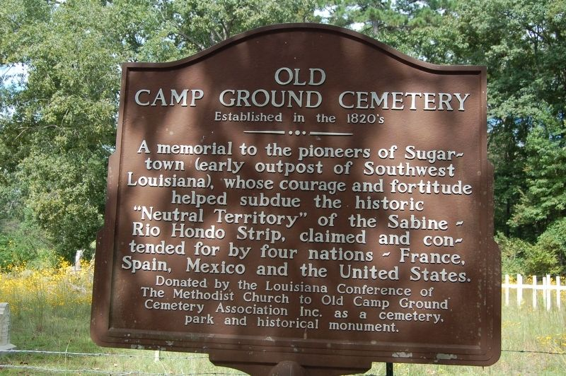 Old Camp Ground Cemetery Marker image. Click for full size.
