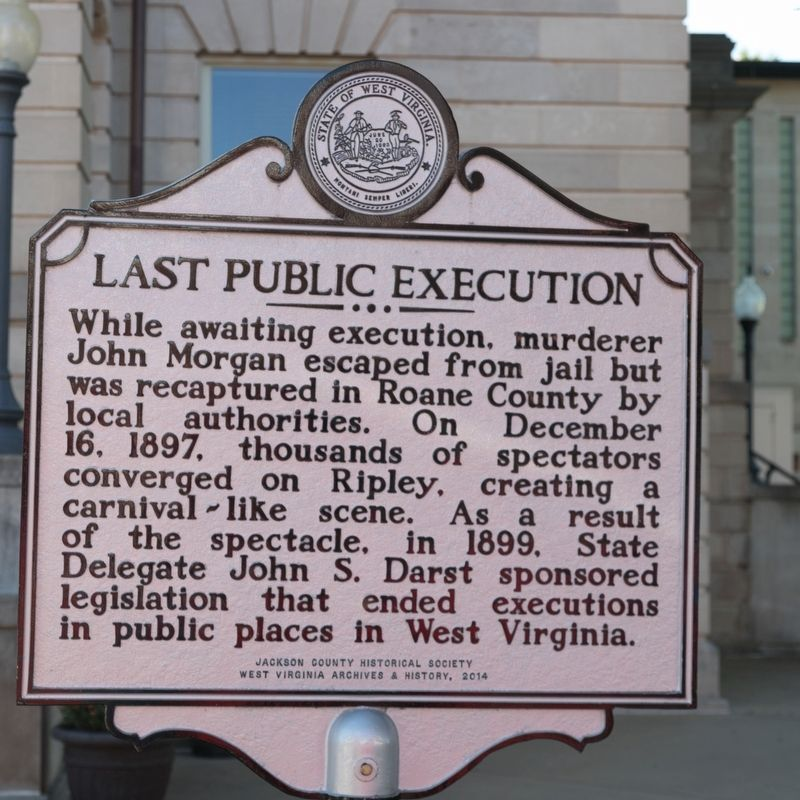 Last Public Execution side of marker image. Click for full size.