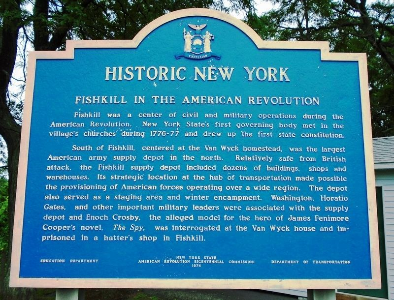 Fishkill in the American Revolution Marker image. Click for full size.