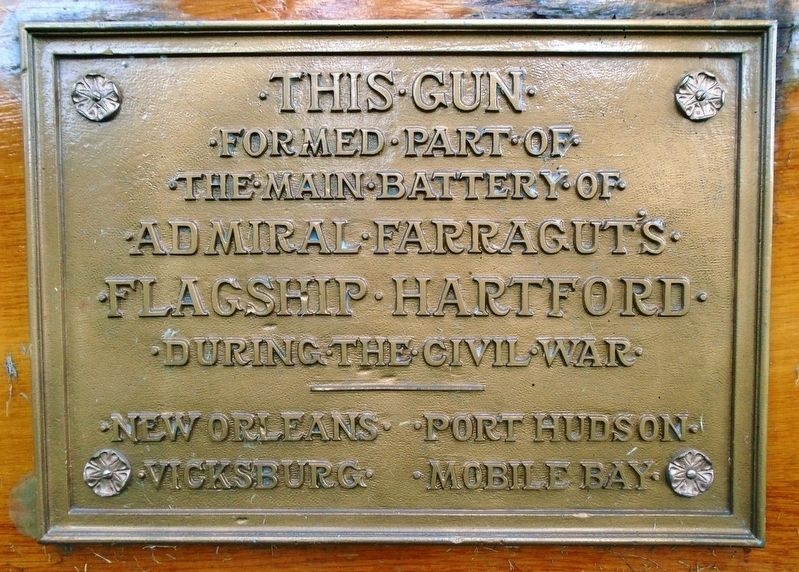 USS Hartford Gun Marker image. Click for full size.