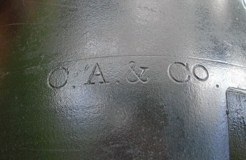 "USS Hartford Gun Foundry Mark - ""C.A. & Co."" image. Click for full size."