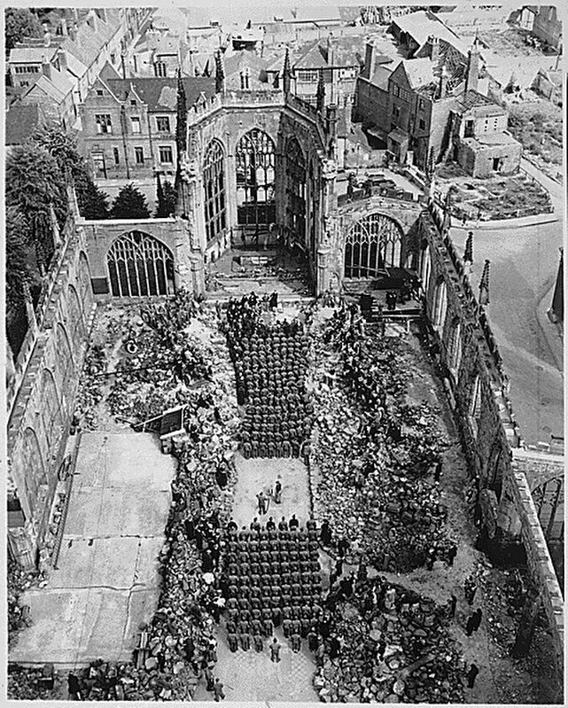 <i>...Mother&#39;s Day services in blitzed Coventry Cathedral...</i> image. Click for full size.
