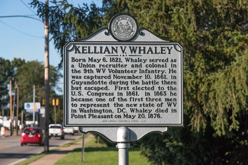 """Image result for mason county wv historical markers Kellian V. Whaley"""""""