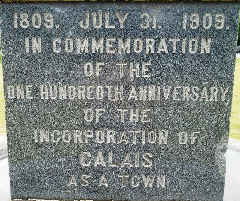 Calais 100th Anniversary of Incorporation Marker image. Click for full size.