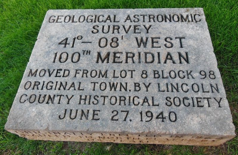 100th Meridian Marker image. Click for full size.